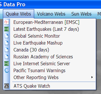 The Quake Web Menu