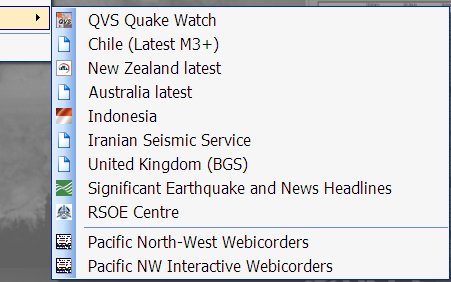 The Other Reporting Webs Menu