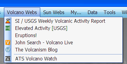 The Volcano Web Menu
