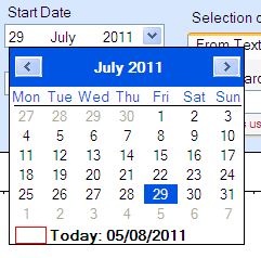 The Month Drop-down