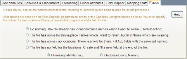 Map Maker Tab - Places